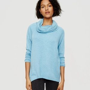 Lou & Grey Blue cowl neck pullover tunic